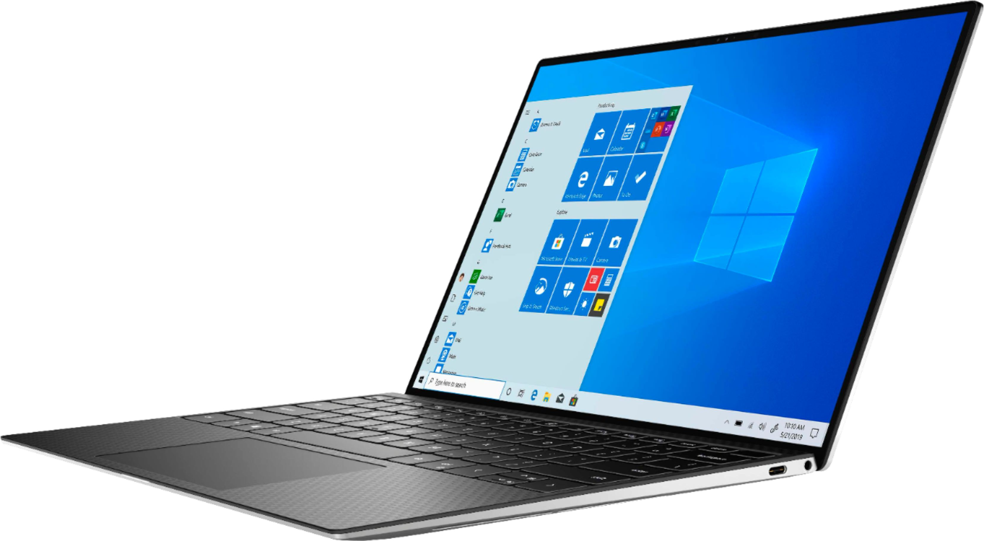 """Left Zoom. Dell - XPS 13.4"""" FHD+ Touch Laptop - Engineered for Mobile Performance - Intel Core i7 - 8GB Memory - 512GB SSD - Platinum Silver."""