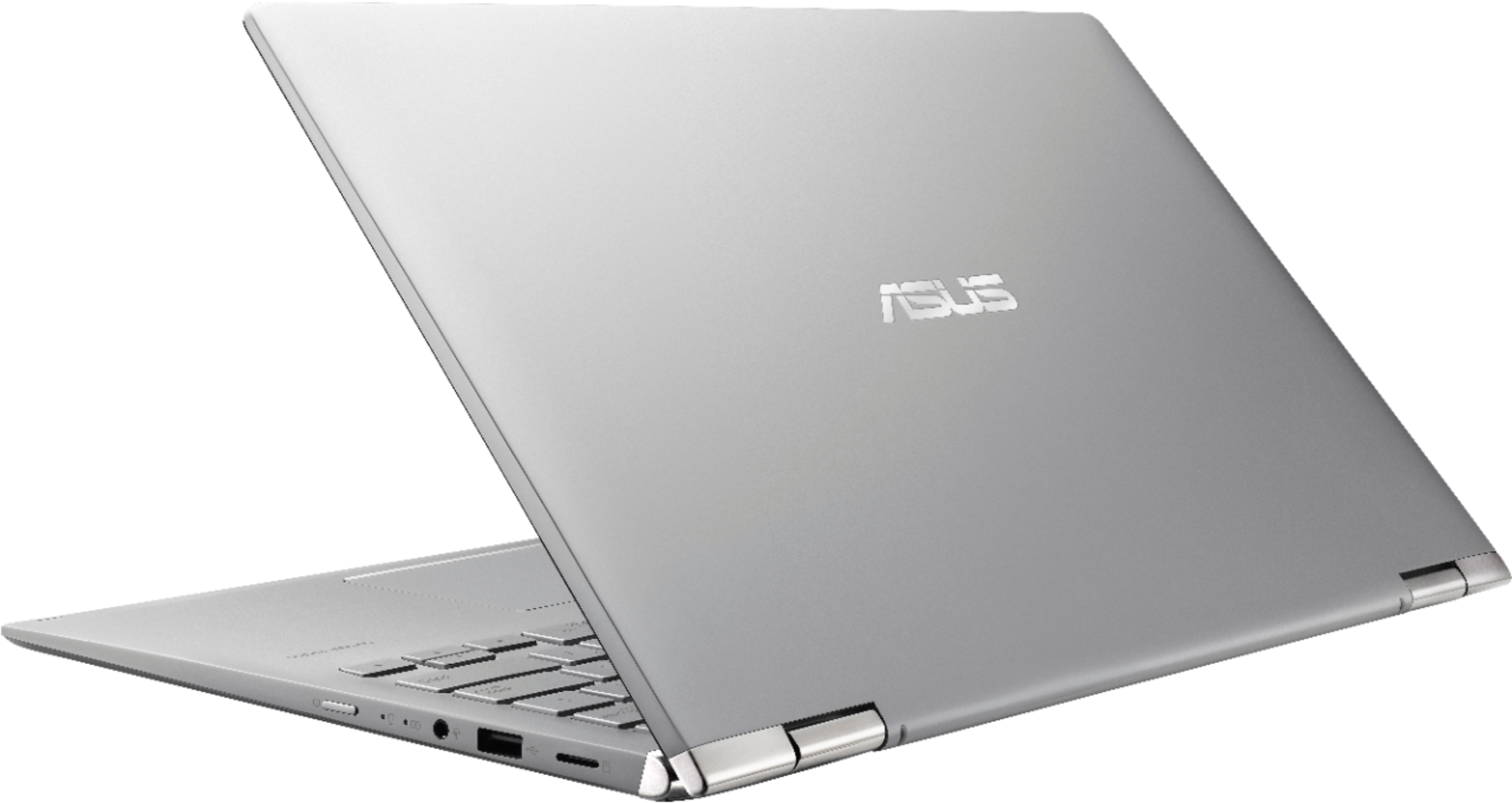 """Alt View Zoom 1. ASUS - 14"""" Touch-Screen Laptop - AMD Ryzen 5 - 8GB Memory - 256GB Solid State Drive - Silver."""