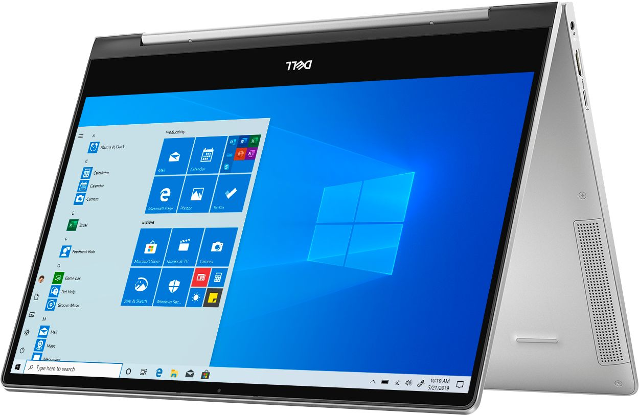 """Left Zoom. Dell - Inspiron 13.3"""" 7000 2-in-1 Touch-Screen Laptop - Intel Core i5 - 8GB Memory - 512GB SSD + 32GB Optane - Silver."""