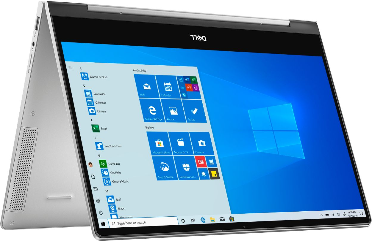 """Angle Zoom. Dell - Inspiron 13.3"""" 7000 2-in-1 Touch-Screen Laptop - Intel Core i5 - 8GB Memory - 512GB SSD + 32GB Optane - Silver."""