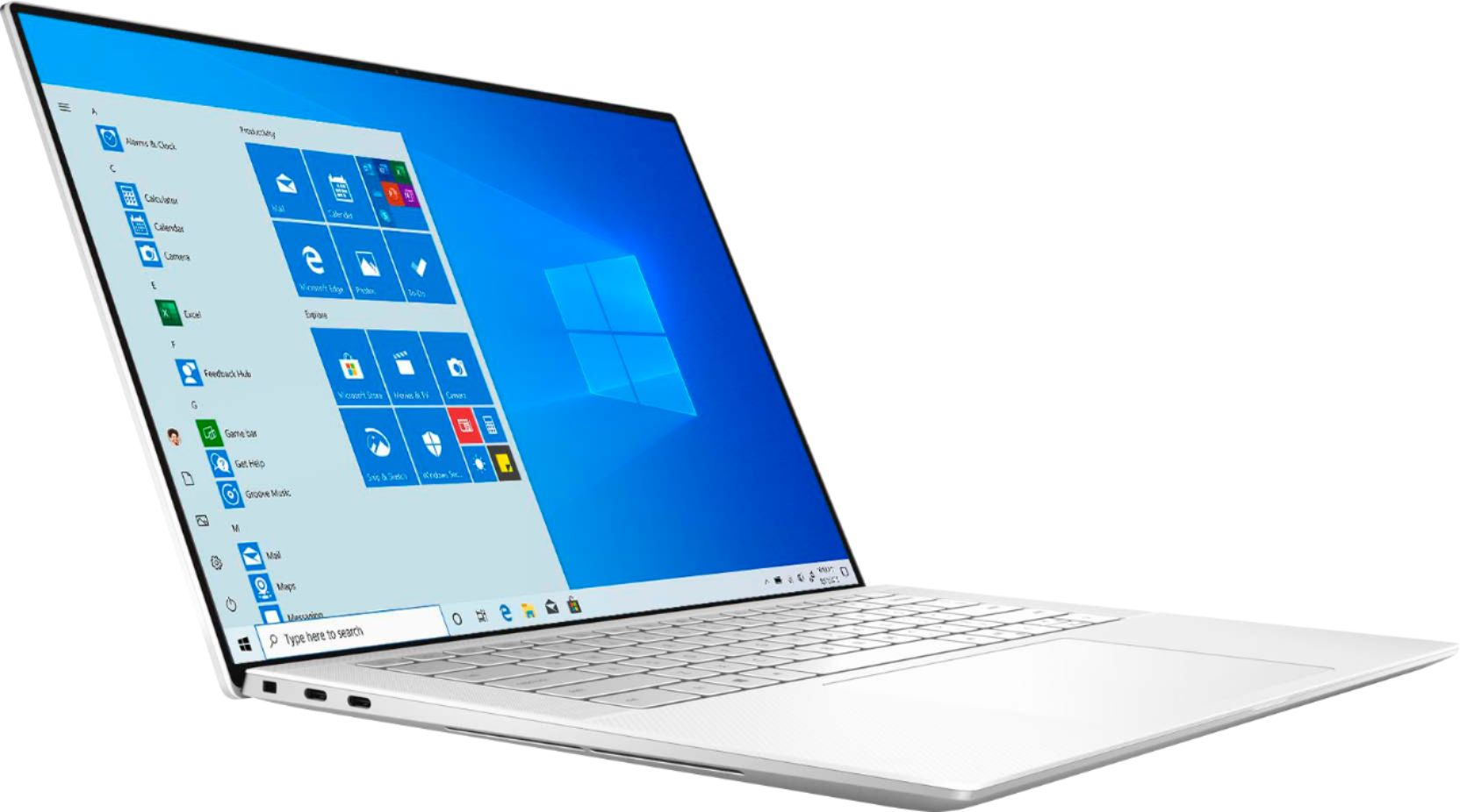 """Angle Zoom. Dell - XPS 15.6"""" UHD+ Touch Laptop - Intel Core i7 - 16GB Memory - 512GB SSD - NVIDIA GeForce GTX 1650 Ti - White."""