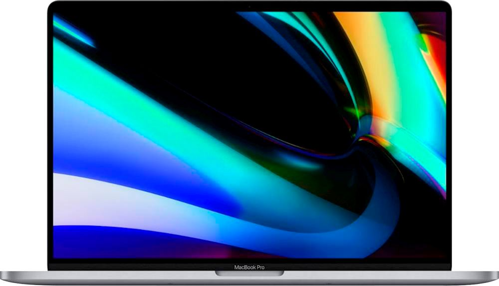 """Front Zoom. Apple - MacBook Pro 16"""" Display with Touch Bar - Intel Core i7 - 32GB Memory - 1TB SSD - Space Gray."""