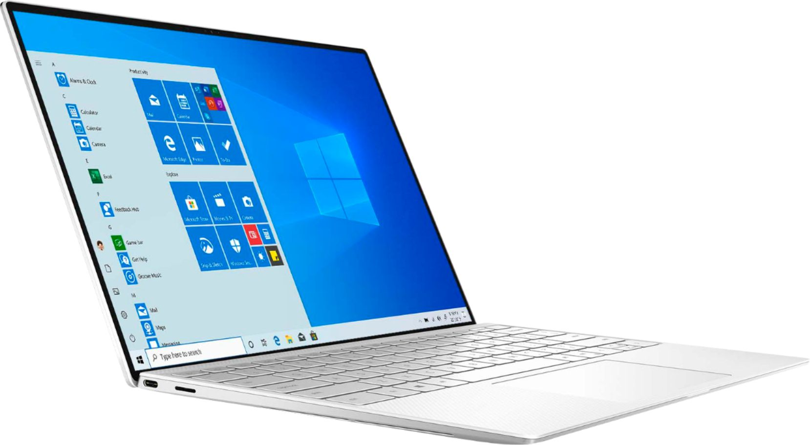 """Angle Zoom. Dell - XPS 13.4"""" UHD+ Touch Laptop - Intel Core i7 - 16GB Memory - 512GB SSD - Frost White."""