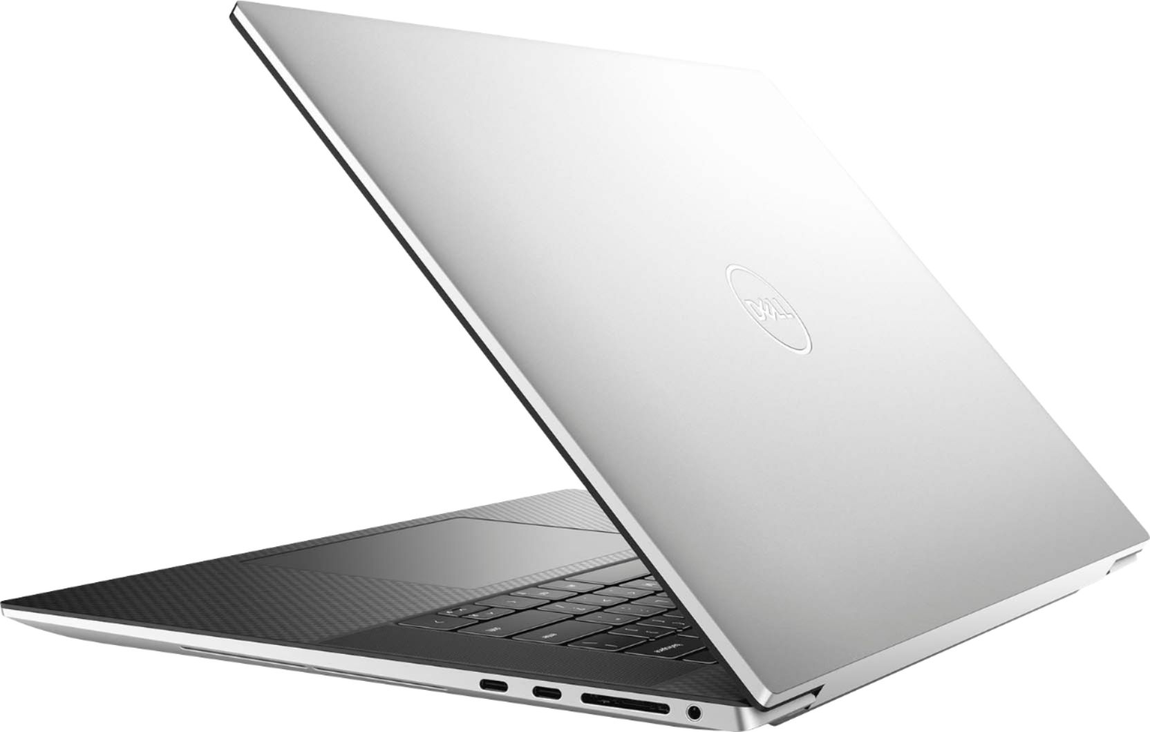 """Alt View Zoom 1. Dell - XPS 17"""" UHD+ Touch Laptop - Intel Core i7 - 16GB Memory - 1TB SSD - NVIDIA GeForce RTX 2060 - Silver cover, black interior."""