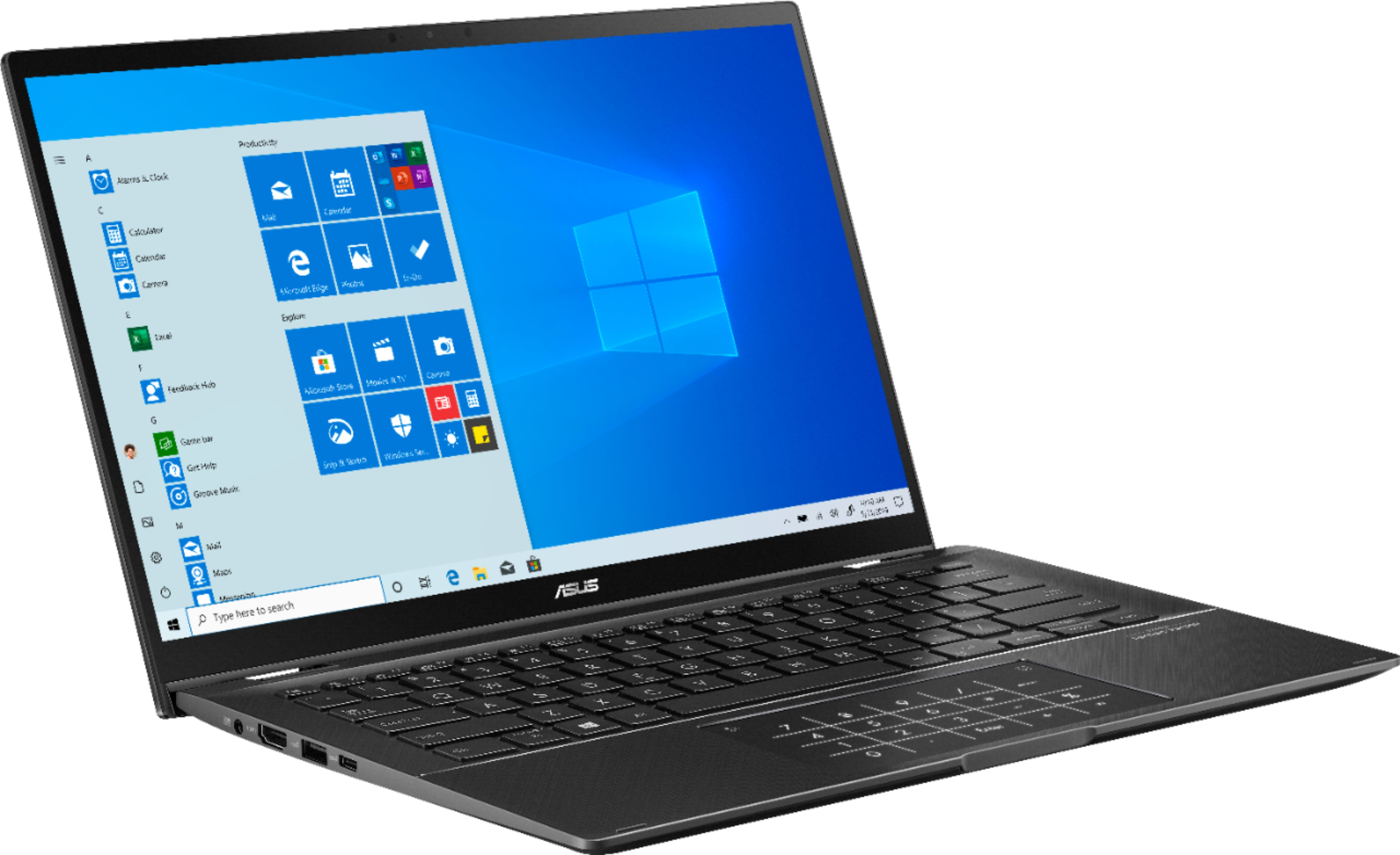 """Angle Zoom. ASUS - Zenbook Flip 14"""" Touch-Screen Laptop - Intel Core i7 - 16GB Memory - NVIDIA GeForce MX250 - 512GB Solid State Drive - Gun Gray."""