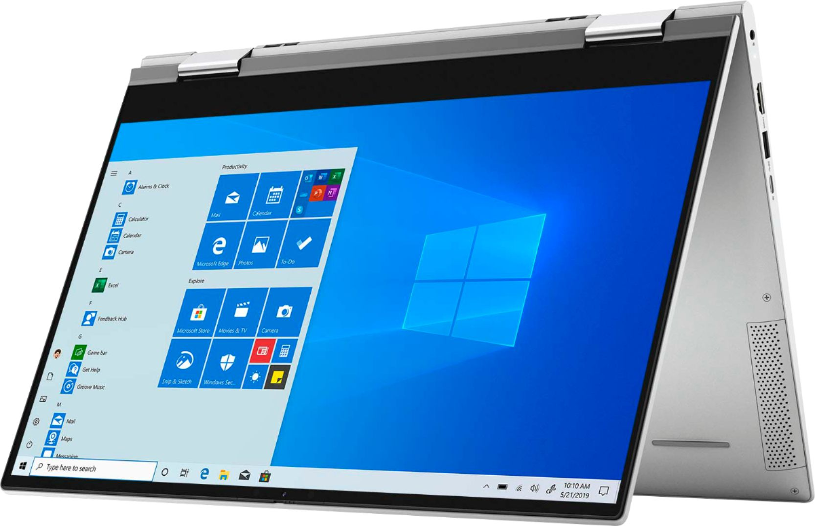 """Angle Zoom. Dell - Inspiron 15 7000 2-in-1 15.6"""" Touch-Screen Laptop - Intel Core i7 - 16GB Memory - 512GB SSD + 32GB Intel Optane - silver."""