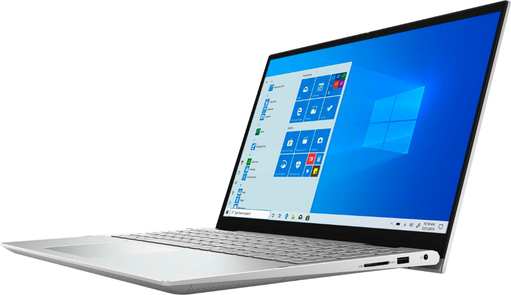 """Alt View Zoom 1. Dell - Inspiron 15 7000 2-in-1 15.6"""" Touch-Screen Laptop - Intel Core i7 - 16GB Memory - 512GB SSD + 32GB Intel Optane - silver."""