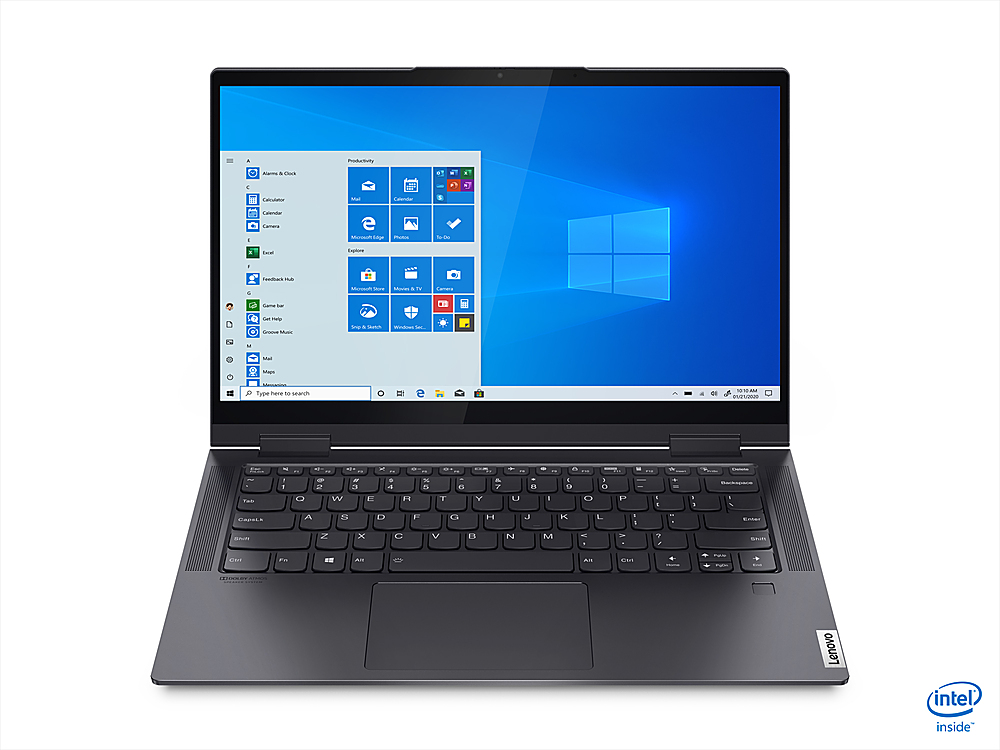 """Front Zoom. Lenovo - Yoga 7i 14 2-in-1 14"""" Touch-Screen Laptop - Intel Core i7 - 16GB Memory - 1TB SSD - Slate Grey."""