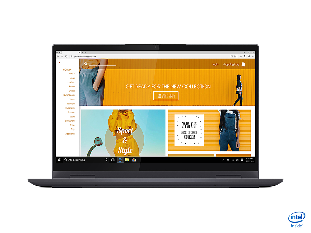 "Alt View Zoom 4. Lenovo - Yoga 7i 14 2-in-1 14"" Touch-Screen Laptop - Intel Core i7 - 16GB Memory - 1TB SSD - Slate Grey."