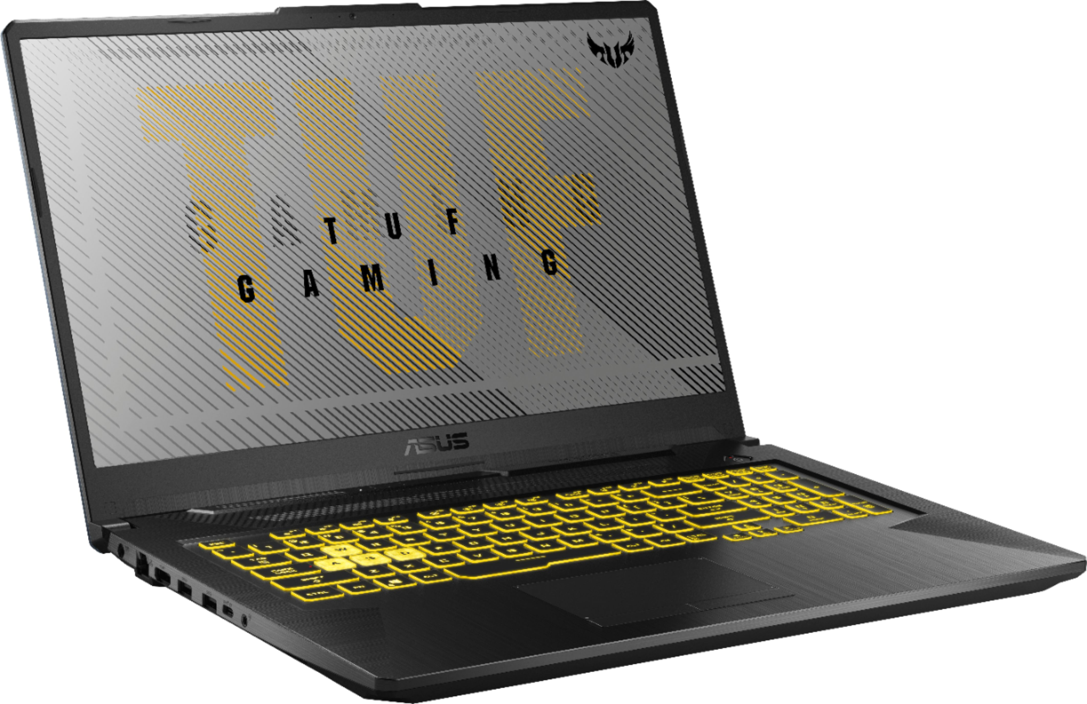 """Angle Zoom. ASUS - TUF 17.3"""" Gaming Notebook - AMD Ryzen 7 4800H 16GB Memory - NVIDIA GeForce GTX 1660Ti - 1TB Solid State Drive - Fortress Gray."""
