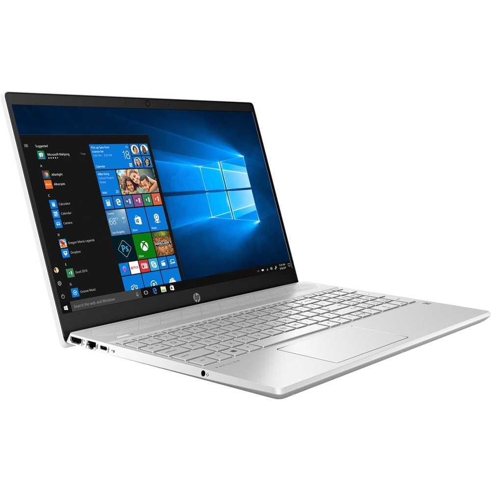"""Left Zoom. HP - Pavilion 15.6"""" Touch-Screen Laptop - Intel Core i7 - 8GB Memory - 512GB SSD - Ceramic White, Sandblasted Anodized Finish."""
