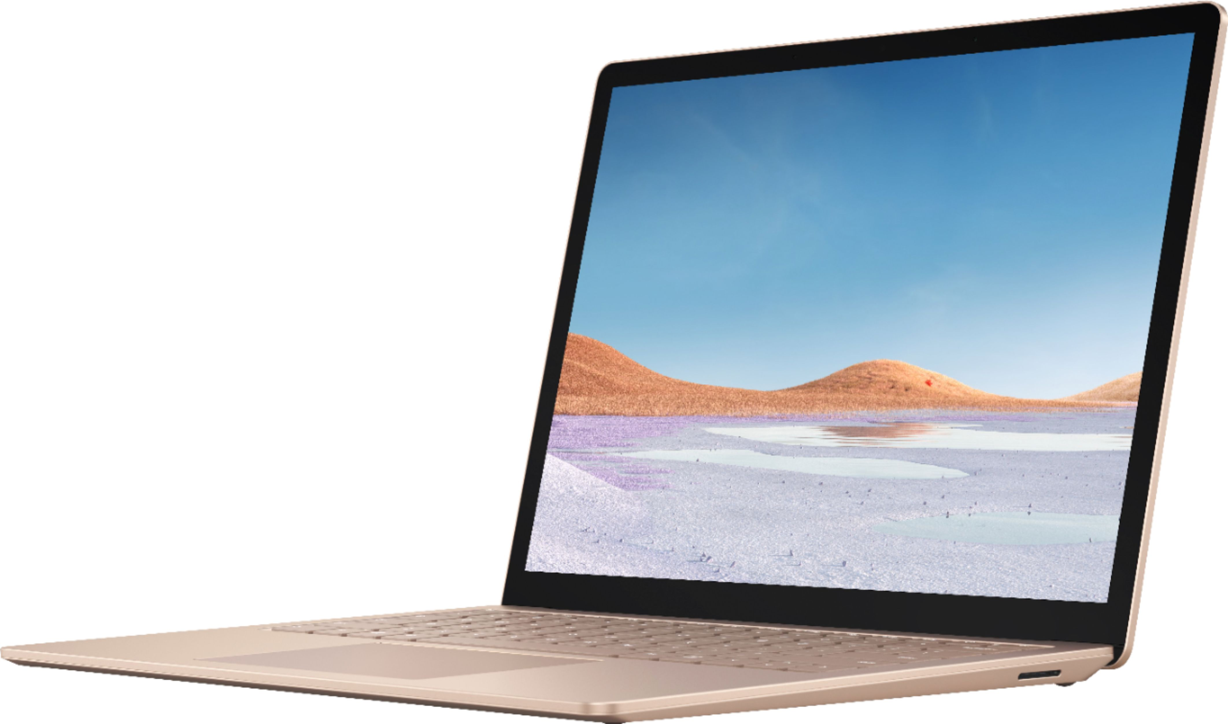 """Front Zoom. Microsoft - Surface Laptop 3 - 13.5"""" Touch-Screen - Intel Core i7 - 16GB Memory - 512GB Solid State Drive (Latest Model) - Sandstone."""