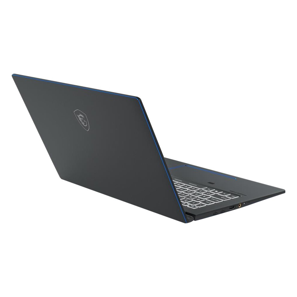 "Alt View Zoom 12. MSI - Prestige 15 15.6"" 4K Ultra HD Laptop - Intel Core i7 - 32GB Memory - NVIDIA GeForce GTX 1650 - 1TB SSD - Gray With Blue Diamond Cut."