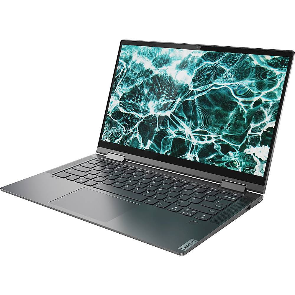 "Left Zoom. Lenovo - Yoga C740 2-in-1 14"" Touch-Screen Laptop - Intel Core i5 - 8GB Memory - 256GB SSD - Iron Gray."