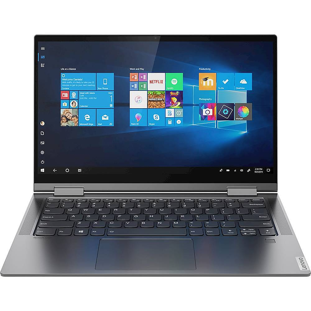 "Front Zoom. Lenovo - Yoga C740 2-in-1 14"" Touch-Screen Laptop - Intel Core i5 - 8GB Memory - 256GB SSD - Iron Gray."