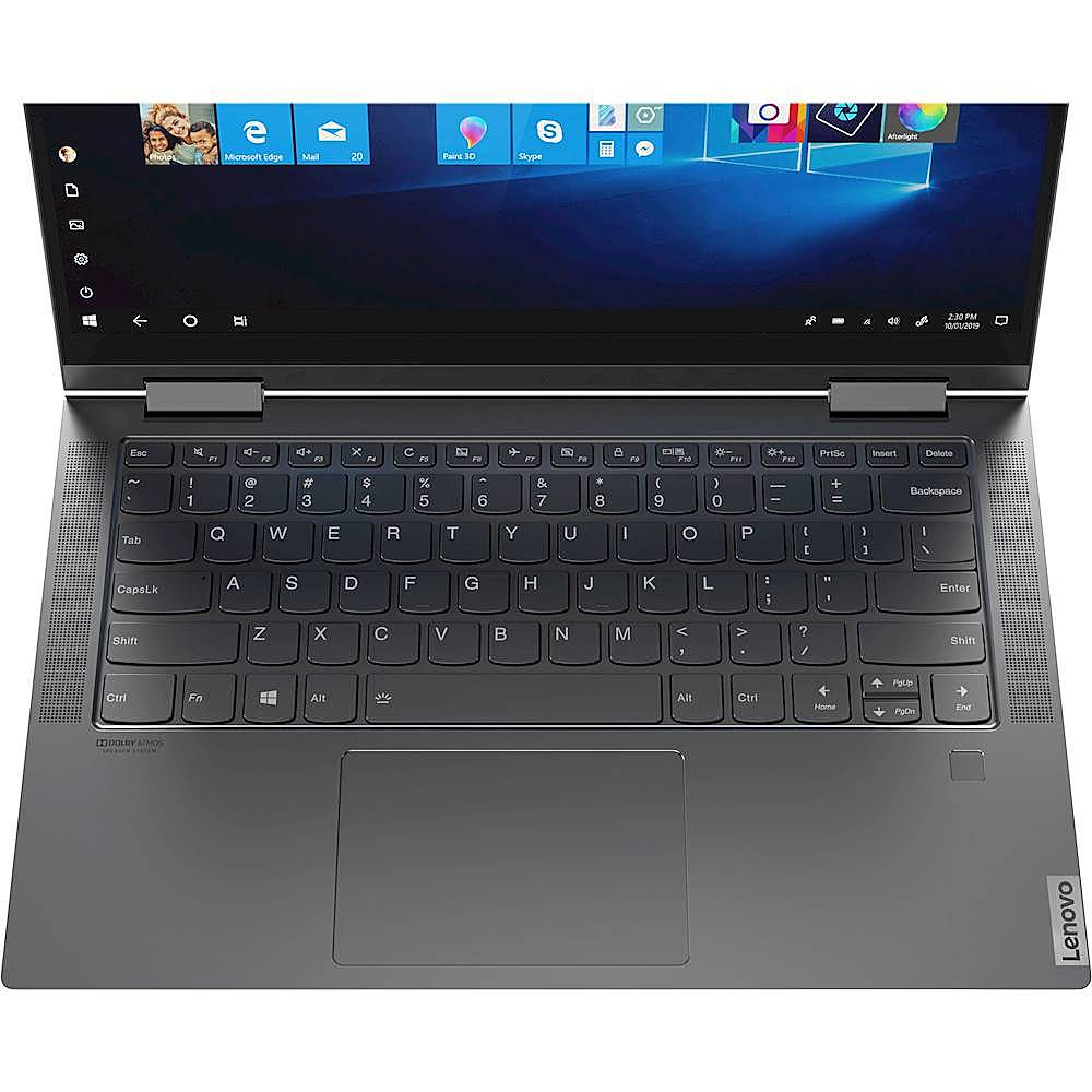 "Alt View Zoom 7. Lenovo - Yoga C740 2-in-1 14"" Touch-Screen Laptop - Intel Core i5 - 8GB Memory - 256GB SSD - Iron Gray."