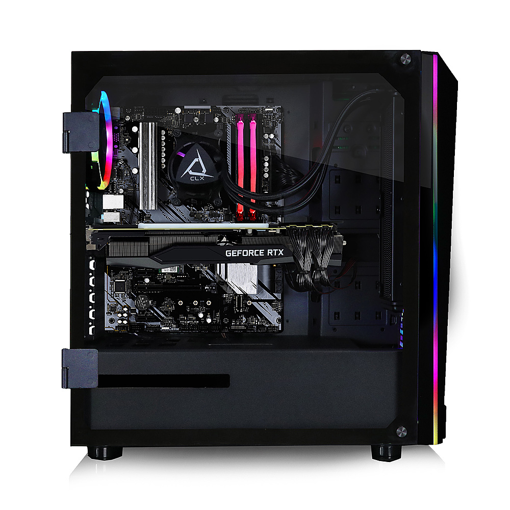 Alt View Zoom 2. CLX - SET Gaming Desktop - AMD Ryzen 9 5950X - 16GB Memory - NVIDIA GeForce RTX 3080 - 240GB SSD + 2TB HDD - Black.