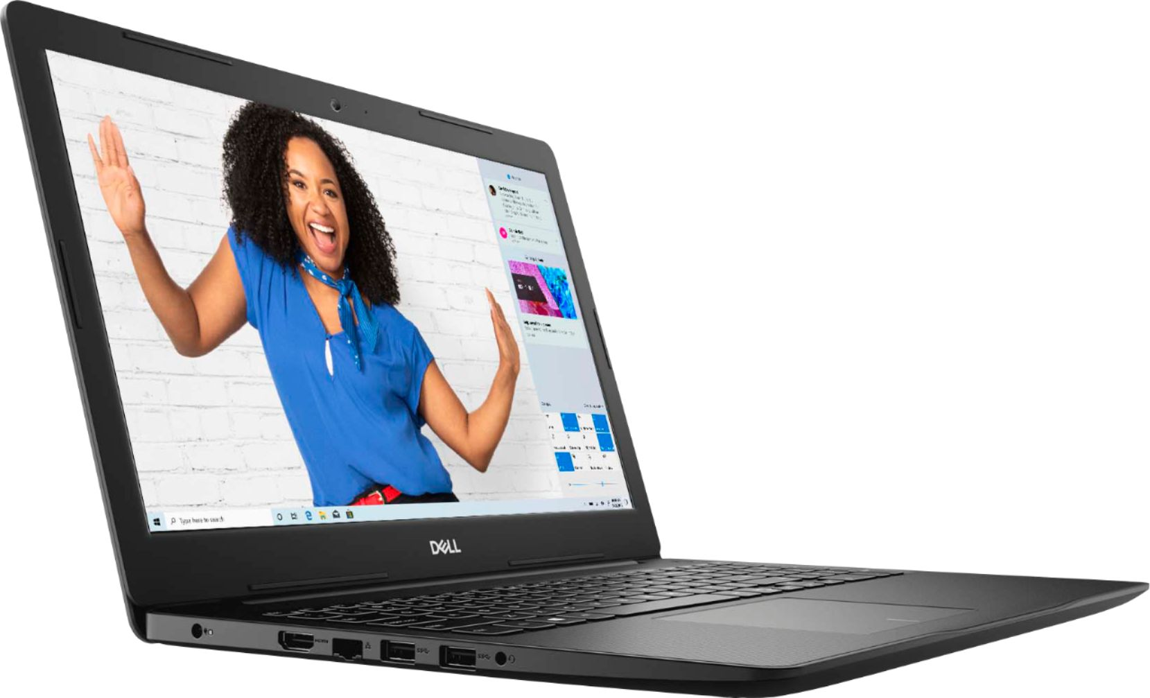 """Angle Zoom. Dell - Inspiron 15.6"""" Touch-Screen Laptop - Intel Core i3 - 8GB Memory - 128GB SSD - Black."""