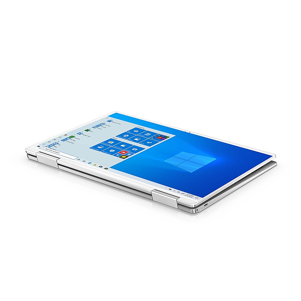 """Left Zoom. Dell - XPS 13.4"""" 2-in-1 Touch UHD+ Laptop - Intel Core i7- 32GB Memory - 1TB Solid State Drive - Platinum Silver, Arctic White interior."""