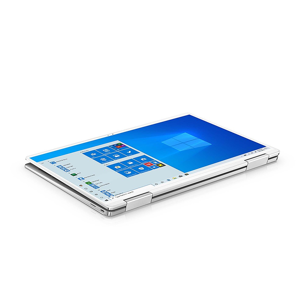 """Alt View Zoom 1. Dell - XPS 13.4"""" 2-in-1 Touch UHD+ Laptop - Intel Core i7- 32GB Memory - 1TB Solid State Drive - Platinum Silver, Arctic White interior."""