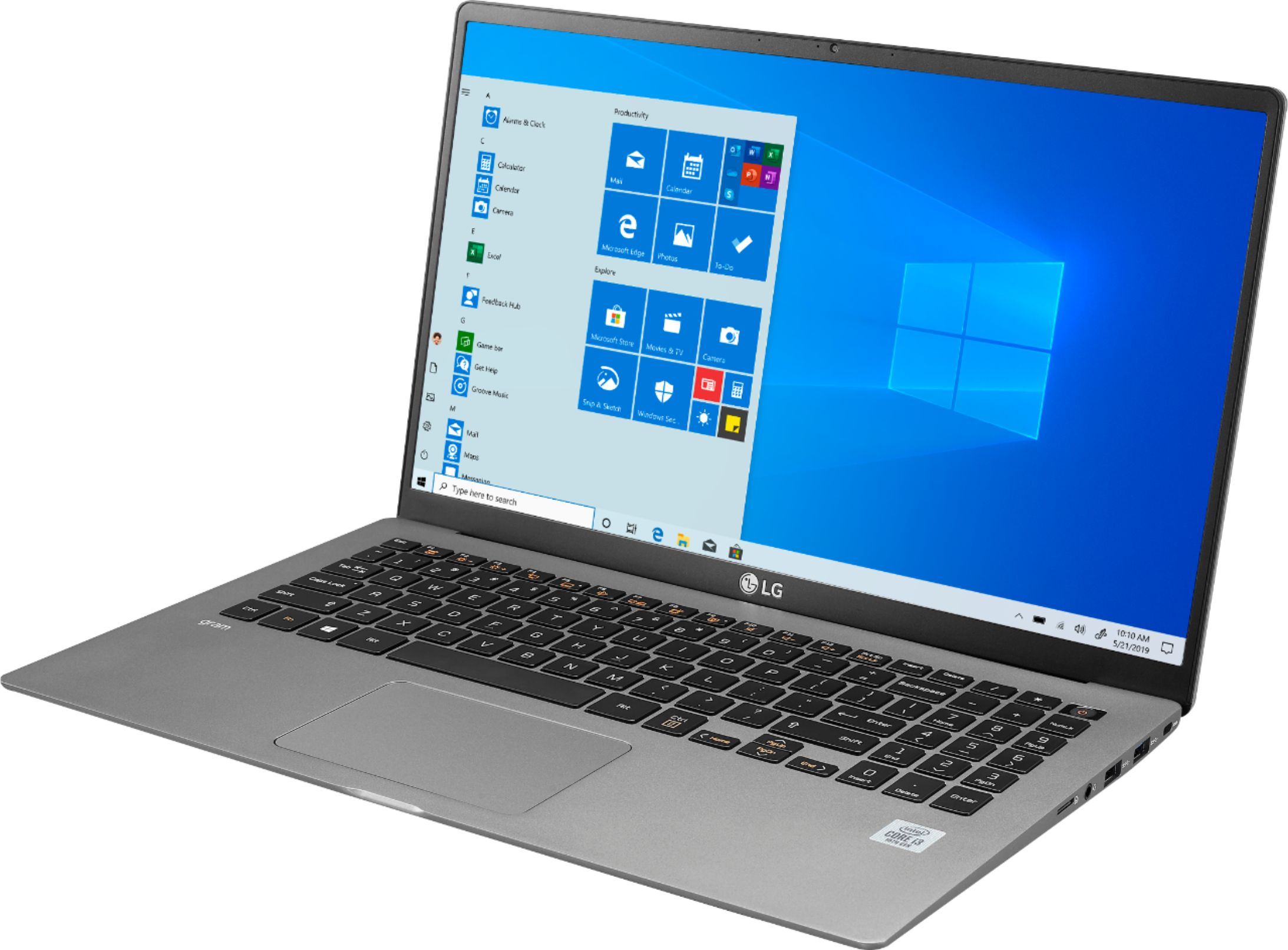 "Left Zoom. LG - gram 15.6"" Touch-Screen Laptop - Intel Core i7 - 16GB Memory - 1.024TB SSD - Dark Silver."