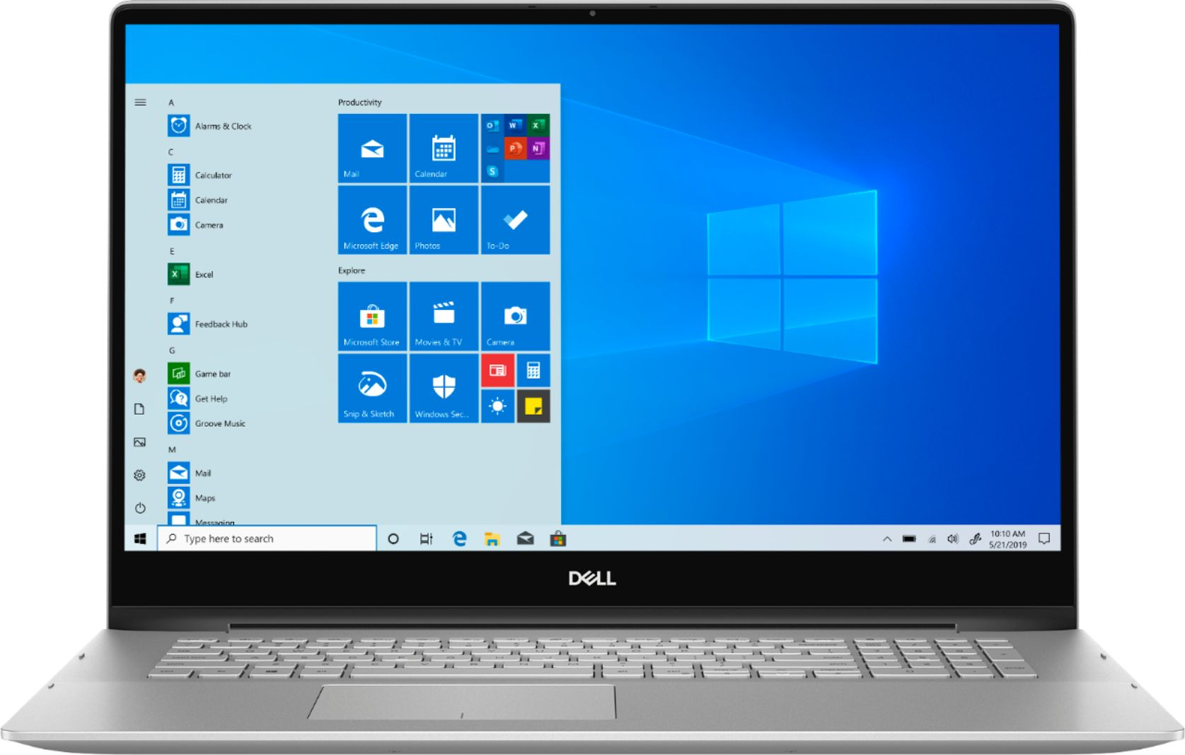 "Front Zoom. Dell - Inspiron 15.6"" 7000 2-in-1 Touch-Screen Laptop - Intel Core i7 - 12GB Memory - 512GB SSD + 32GB Optane - Silver."
