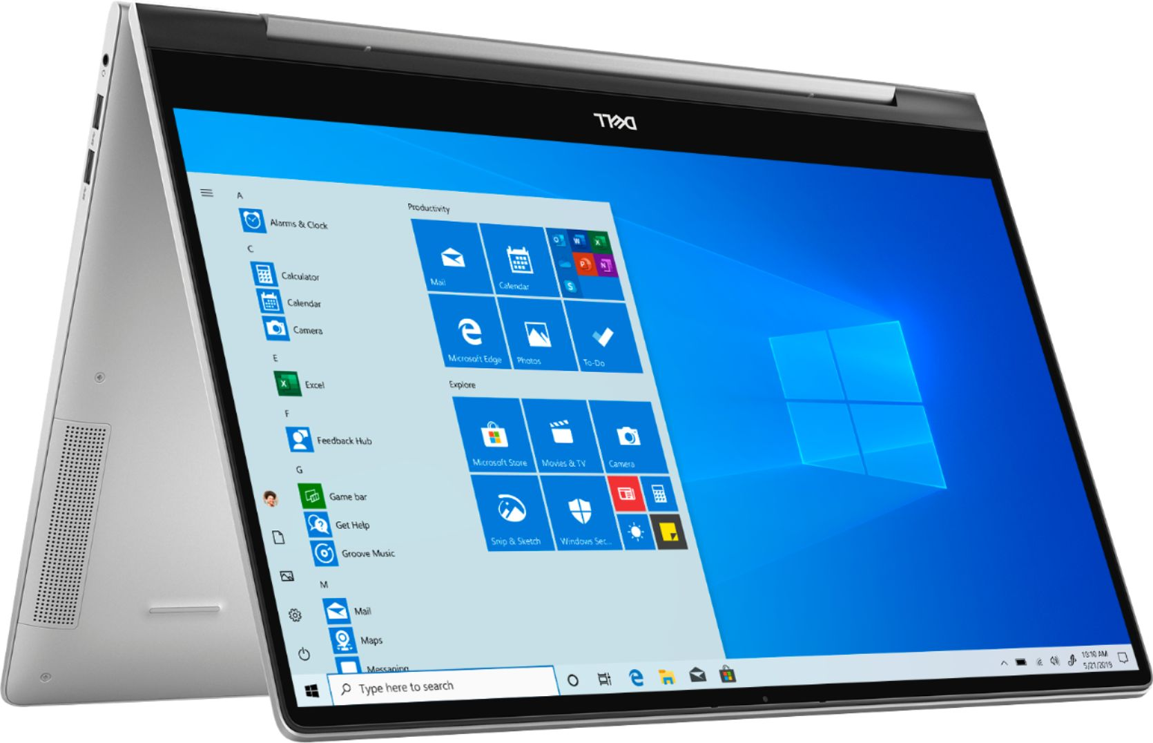 "Angle Zoom. Dell - Inspiron 15.6"" 7000 2-in-1 Touch-Screen Laptop - Intel Core i7 - 12GB Memory - 512GB SSD + 32GB Optane - Silver."