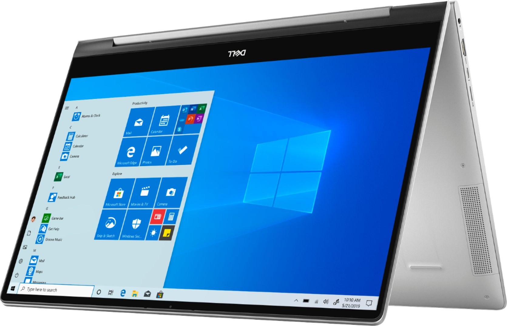 "Left Zoom. Dell - Inspiron 15.6"" 7000 2-in-1 Touch-Screen Laptop - Intel Core i7 - 12GB Memory - 512GB SSD + 32GB Optane - Silver."