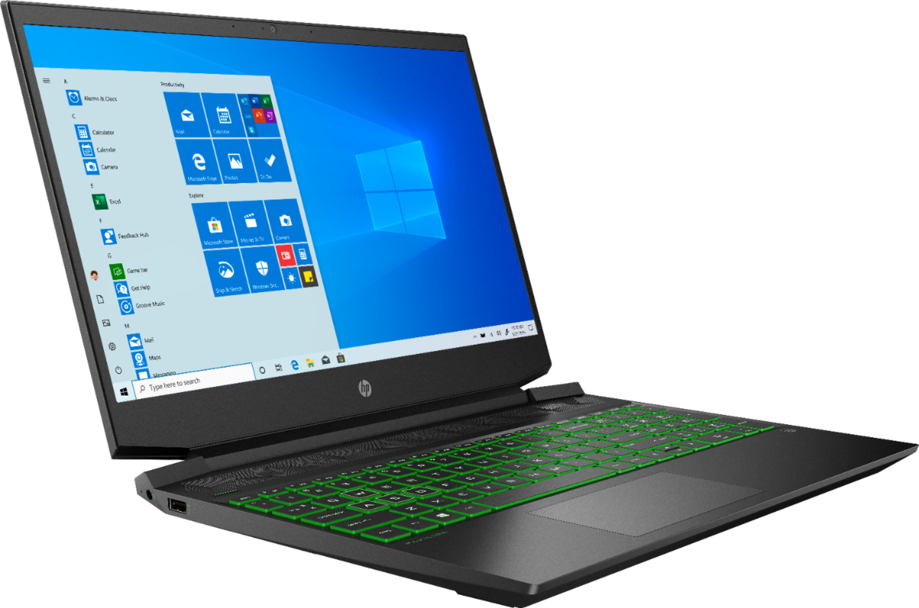 """Angle Zoom. HP - 15.6"""" Gaming Laptop - AMD Ryzen 5 - 8GB Memory - NVIDIA GeForce GTX 1050 - 256GB Solid State Drive - Shadow Black."""