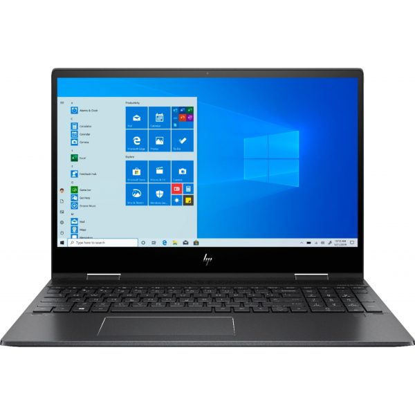 """HP - ENVY x360 2-in-1 15.6"""" Touch-Screen Laptop - AMD Ryzen 5 - 8GB Memory - 256GB Solid State Drive - Sandblasted Anodized Finish, Nightfall Black"""