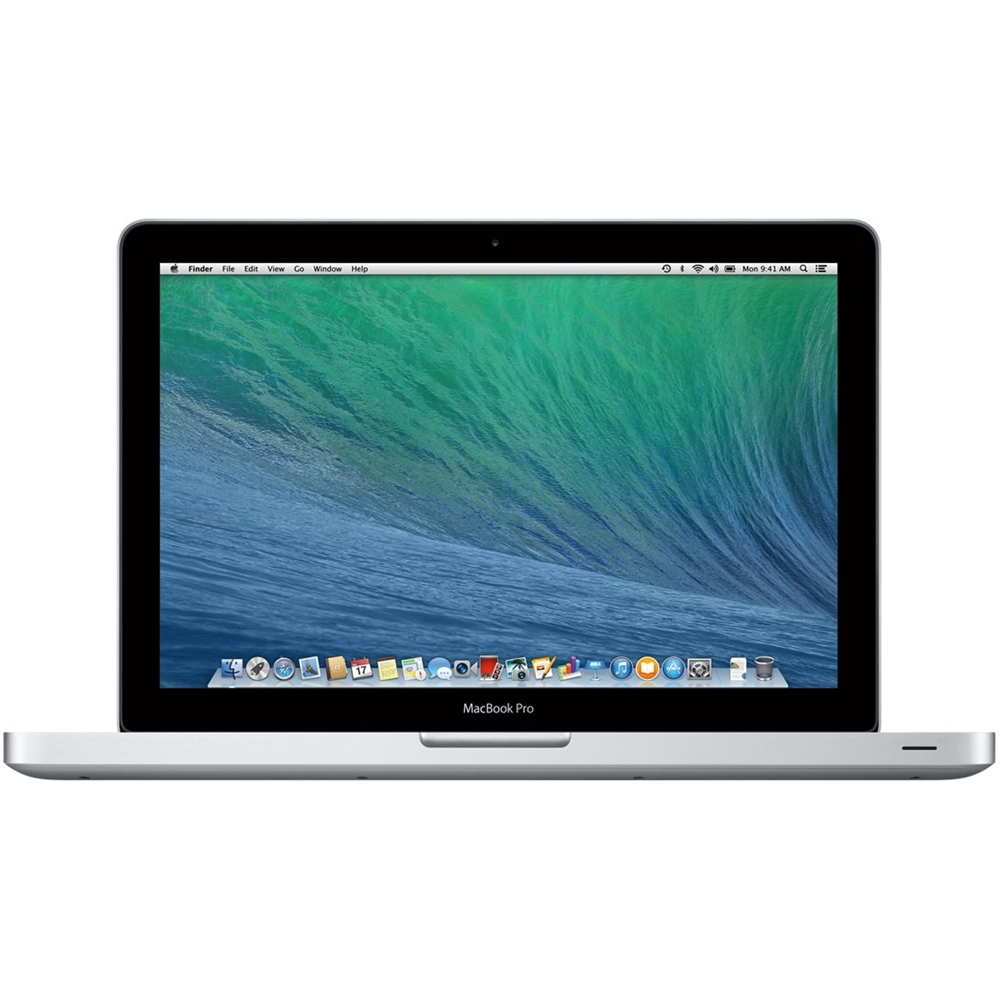 """Front Zoom. Apple - MacBook Pro 13.3"""" Pre-owned Laptop - Intel Core i5 - 8GB Memory - 500GB Hard Drive - Silver."""