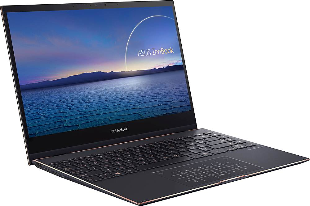 "Angle Zoom. ASUS - ZenBook Flip S 2-in-1 13.3"" 4K Ultra HD Touch-Screen Laptop - Intel Core i7 - 16GB Memory - 1TB Solid State Drive - Jade Black."