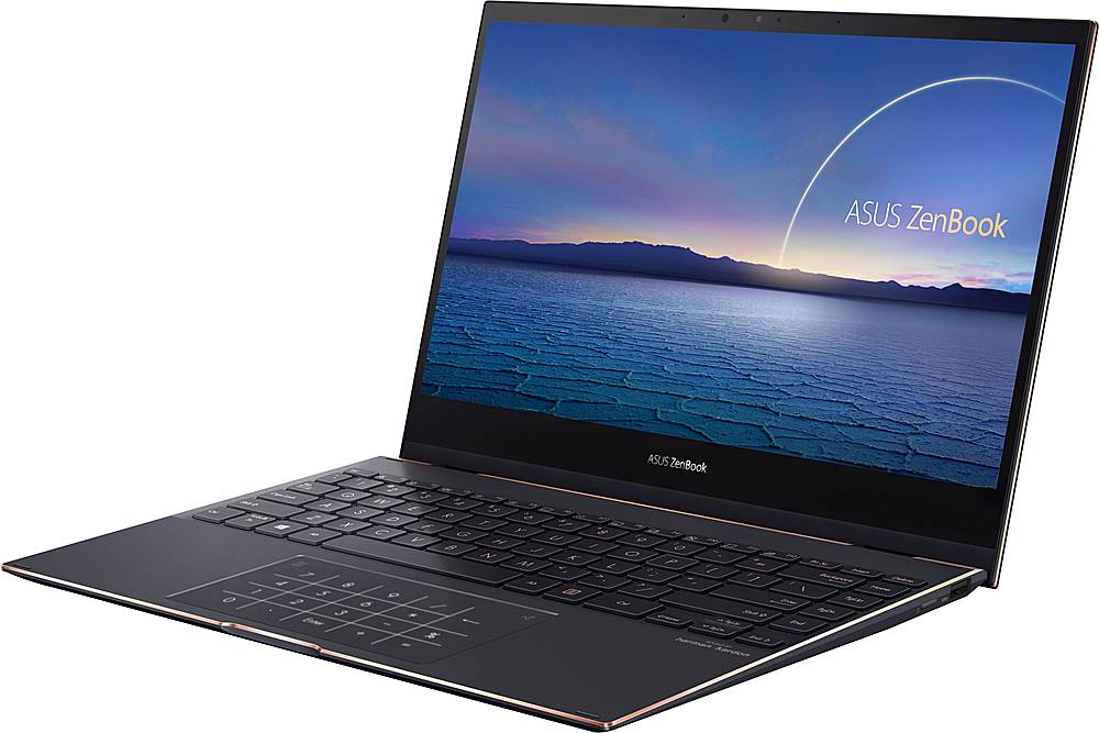 "Left Zoom. ASUS - ZenBook Flip S 2-in-1 13.3"" 4K Ultra HD Touch-Screen Laptop - Intel Core i7 - 16GB Memory - 1TB Solid State Drive - Jade Black."
