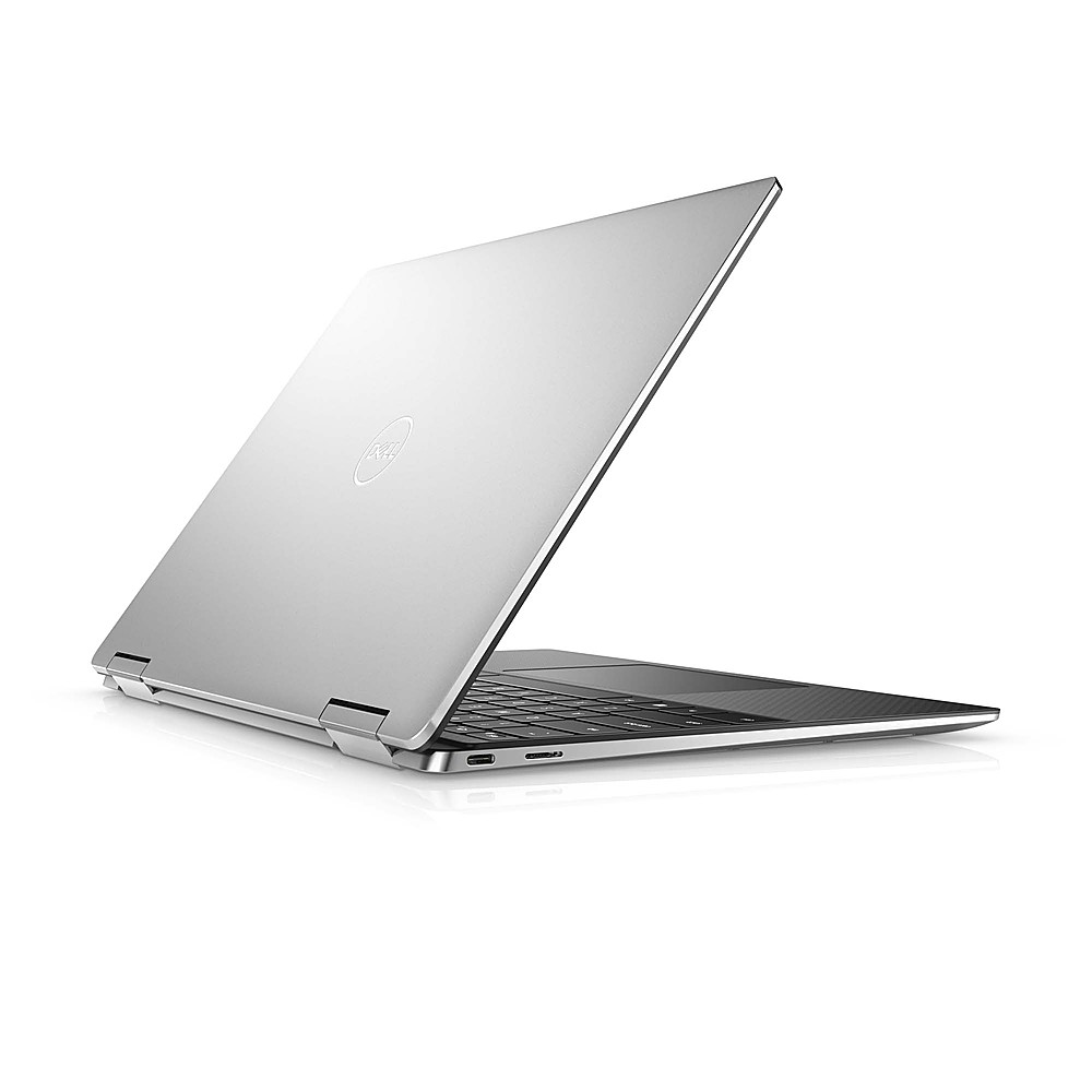 """Alt View Zoom 3. Dell - XPS 13.4"""" 2-in-1 Touch UHD+ Laptop - Intel Core i7- 16GB Memory - 512GB Solid State Drive - Platinum Silver, Black interior."""