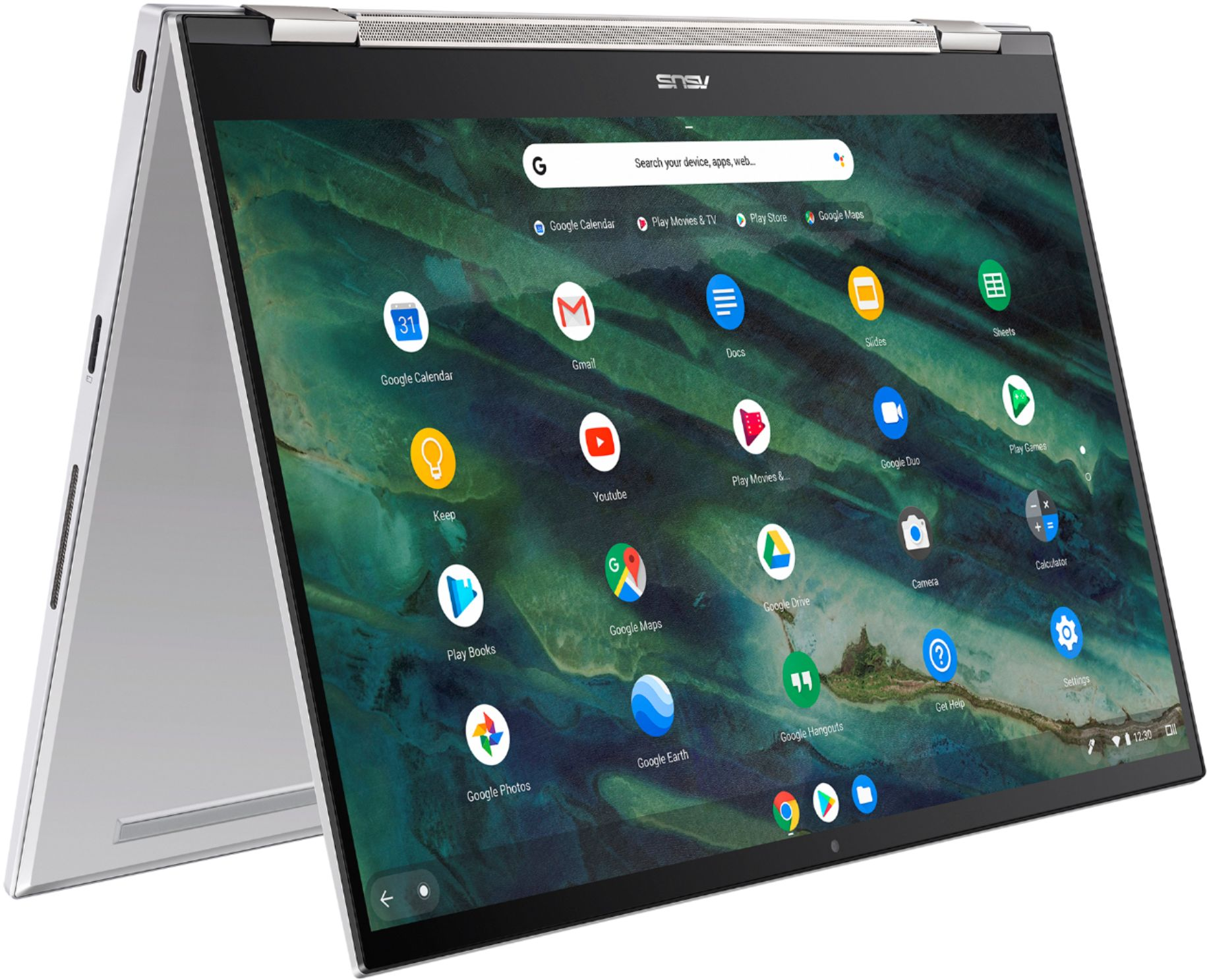 "Alt View Zoom 1. ASUS - Chromebook Flip C436 14"" 2-in-1 Touchscreen FHD Laptop - Intel Core i3-10110U 8GB 128GB Magnesium-Alloy -Silver - Silver."