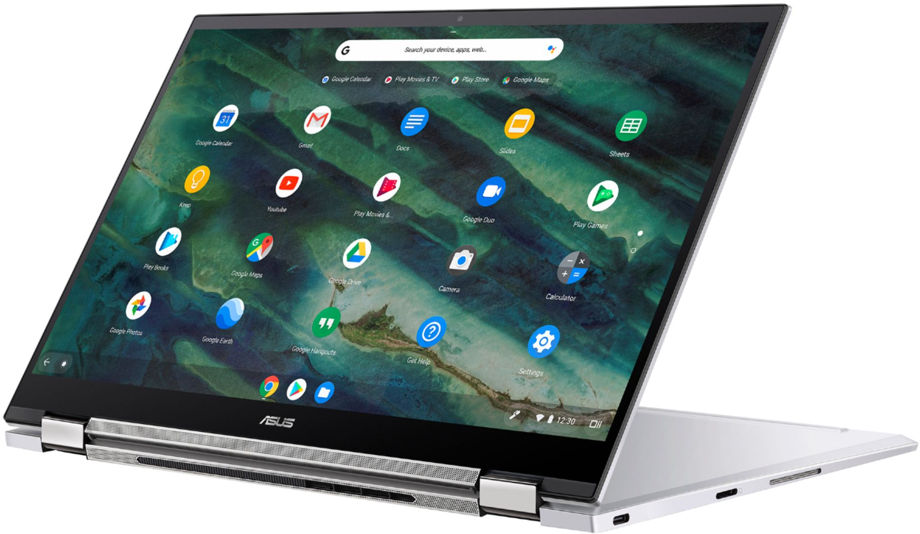 "Alt View Zoom 3. ASUS - Chromebook Flip C436 14"" 2-in-1 Touchscreen FHD Laptop - Intel Core i3-10110U 8GB 128GB Magnesium-Alloy -Silver - Silver."