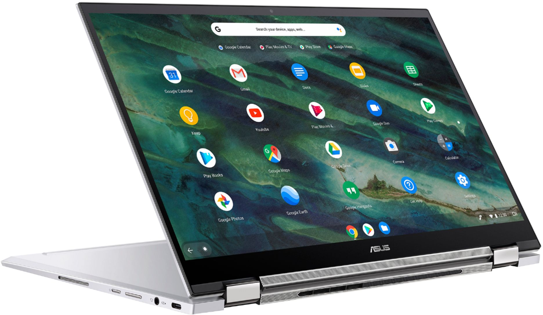 "Alt View Zoom 4. ASUS - Chromebook Flip C436 14"" 2-in-1 Touchscreen FHD Laptop - Intel Core i3-10110U 8GB 128GB Magnesium-Alloy -Silver - Silver."