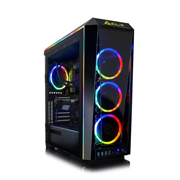 Front Zoom. CLX - SET Gaming Desktop - AMD Ryzen 7 3800X - 64GB Memory - NVIDIA GeForce RTX 3080 - 6TB HDD + 1TB NVMe SSD - Black.
