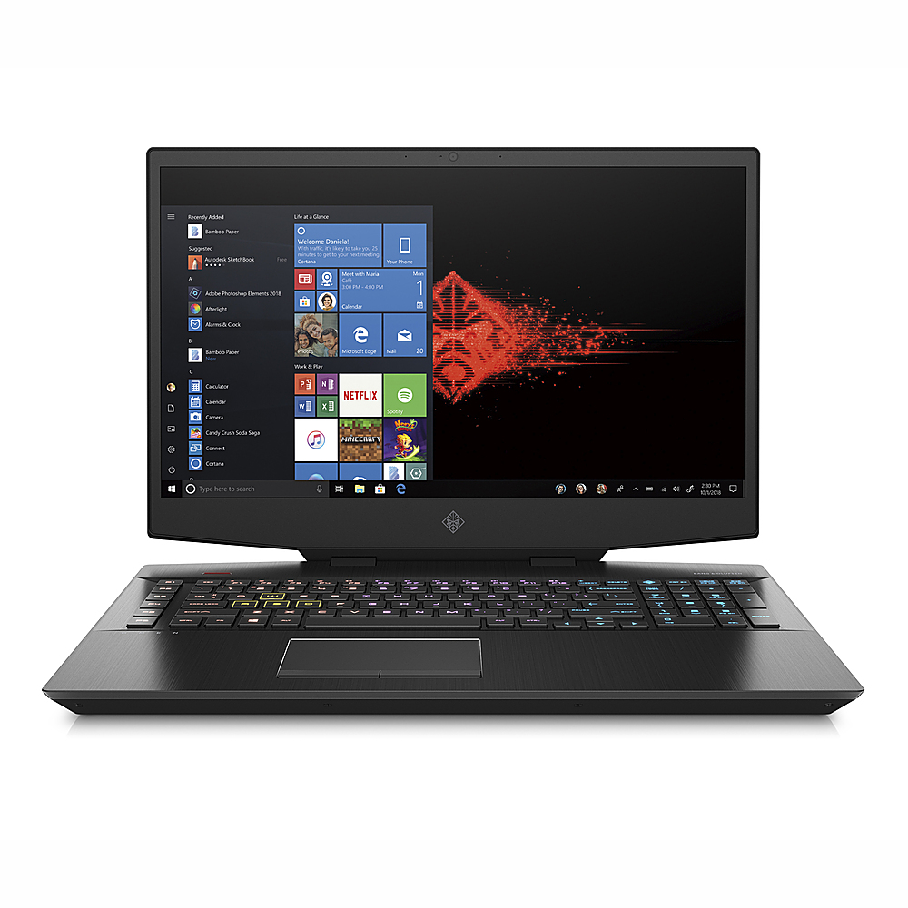 """Front Zoom. HP OMEN - 17.3"""" Gaming Laptop - Intel Core i7-10750H - 16GB Memory - NVIDIA GeForce RTX 2070 - 512GB SSD."""