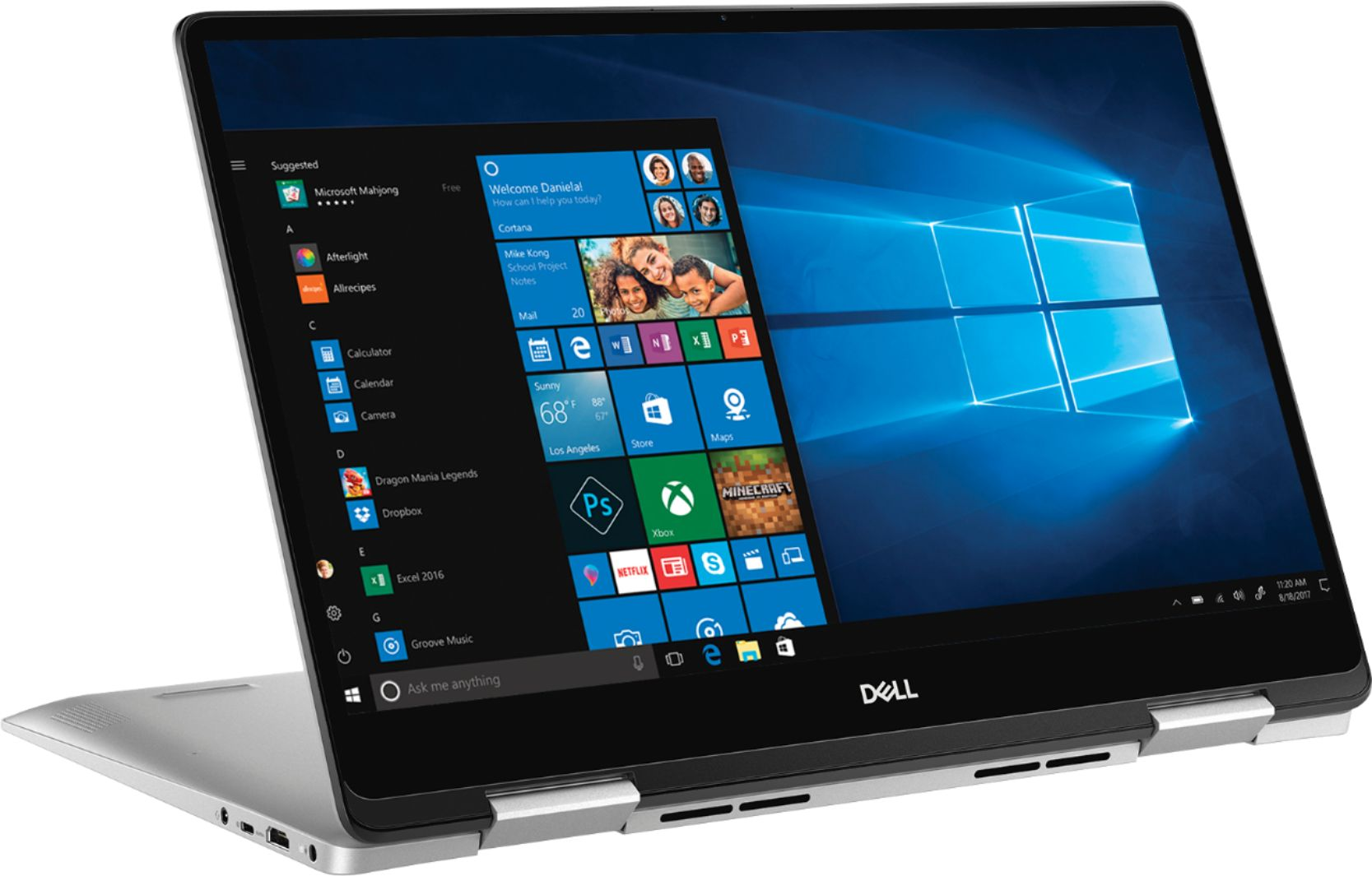 "Angle Zoom. Dell - Inspiron 2-in-1 15.6"" Geek Squad Certified Refurbished Touch-Screen Laptop - Intel Core i5 - 8GB Memory - 256GB SSD - Silver."