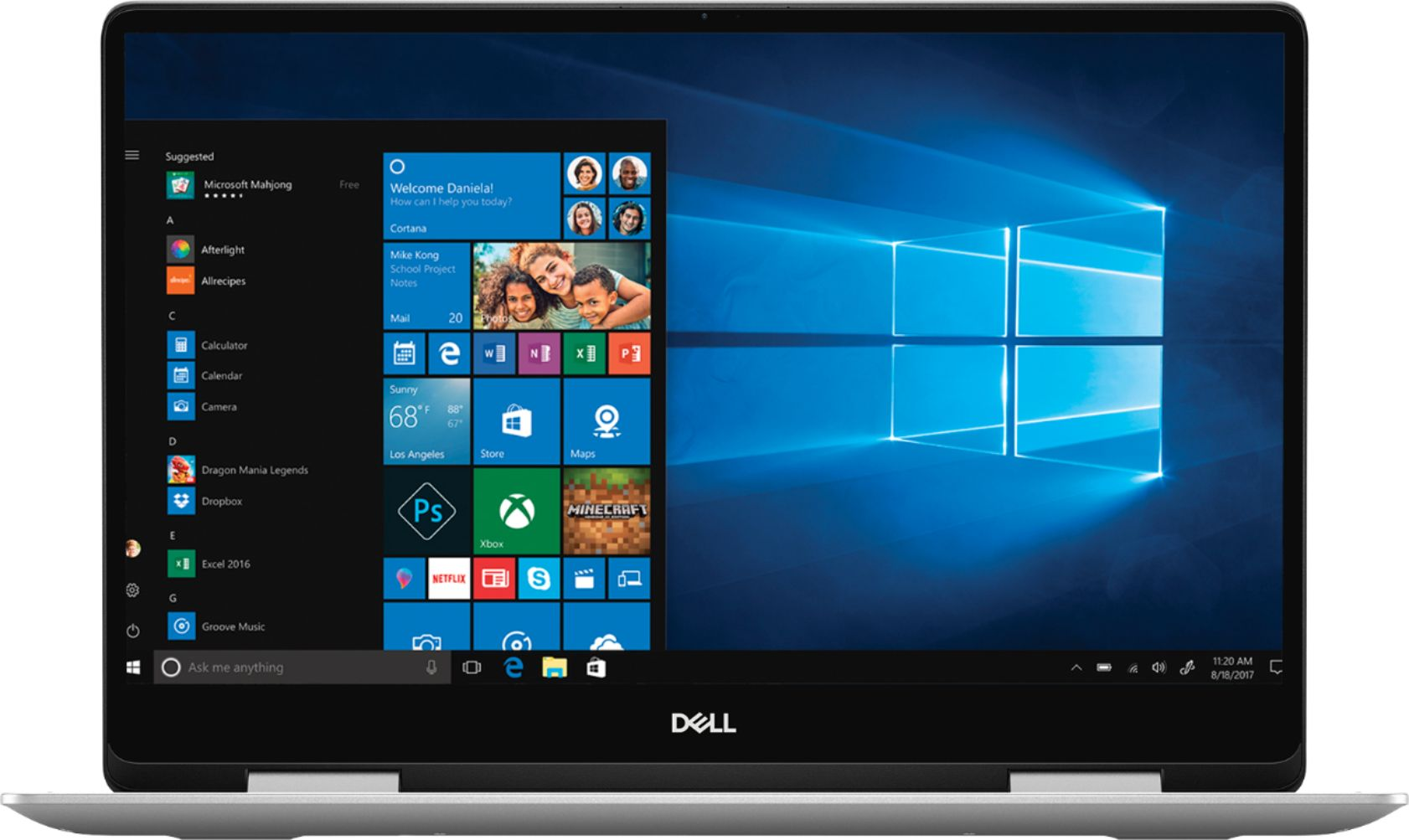 """Alt View Zoom 11. Dell - Inspiron 2-in-1 15.6"""" Geek Squad Certified Refurbished Touch-Screen Laptop - Intel Core i5 - 8GB Memory - 256GB SSD - Silver."""