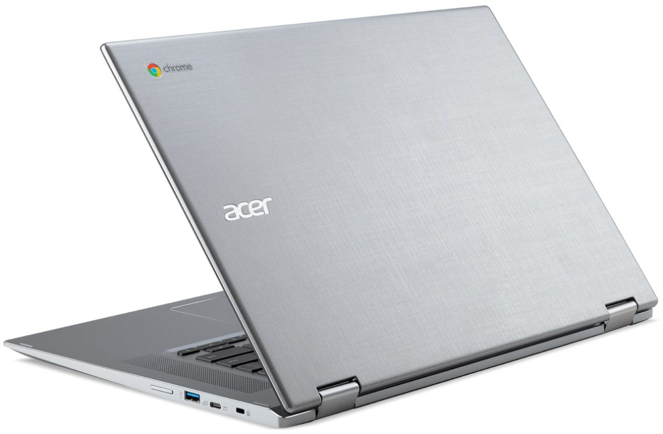 """Alt View Zoom 1. Acer - Geek Squad Certified Refurbished Spin 15 2-in-1 15.6"""" Touch-Screen Chromebook - Intel Pentium - 4GB Memory - 64GB SSD - Sparkly Silver."""