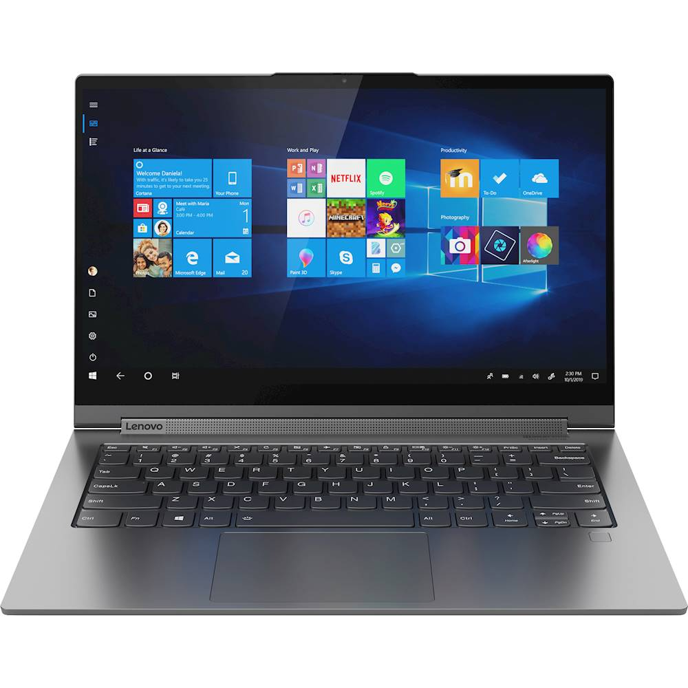 "Front Zoom. Lenovo - Yoga C940 2-in-1 14"" 4K Ultra HD Touch-Screen Laptop - Intel Core i7 - 16GB Memory - 512GB SSD - Iron Gray."