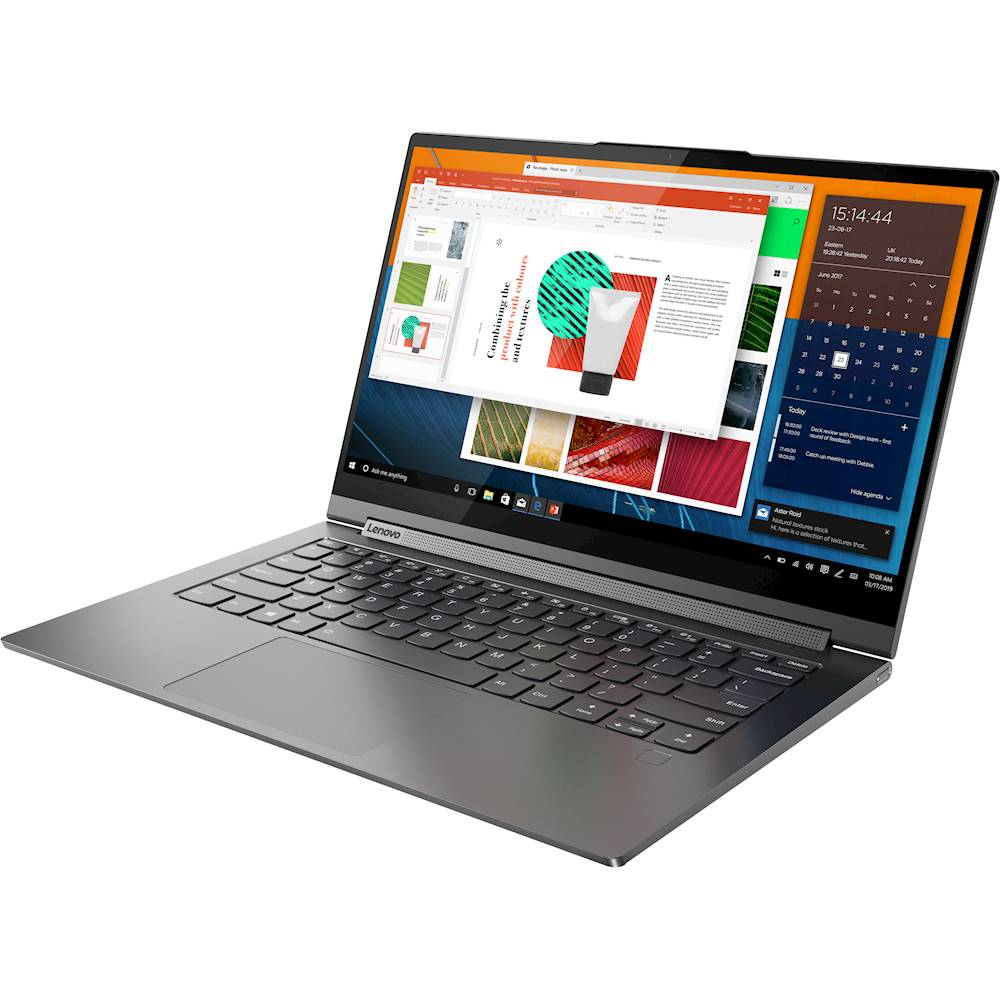 "Left Zoom. Lenovo - Yoga C940 2-in-1 14"" 4K Ultra HD Touch-Screen Laptop - Intel Core i7 - 16GB Memory - 512GB SSD - Iron Gray."
