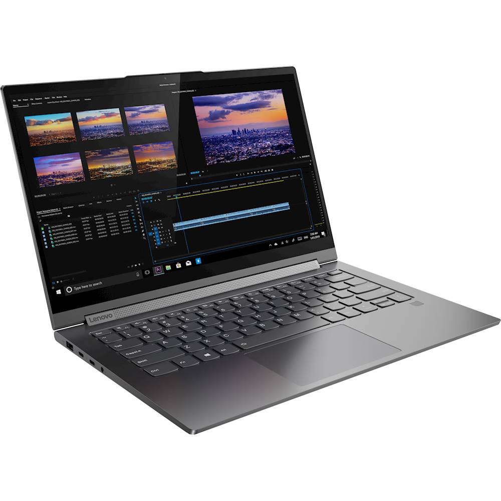 "Angle Zoom. Lenovo - Yoga C940 2-in-1 14"" 4K Ultra HD Touch-Screen Laptop - Intel Core i7 - 16GB Memory - 512GB SSD - Iron Gray."