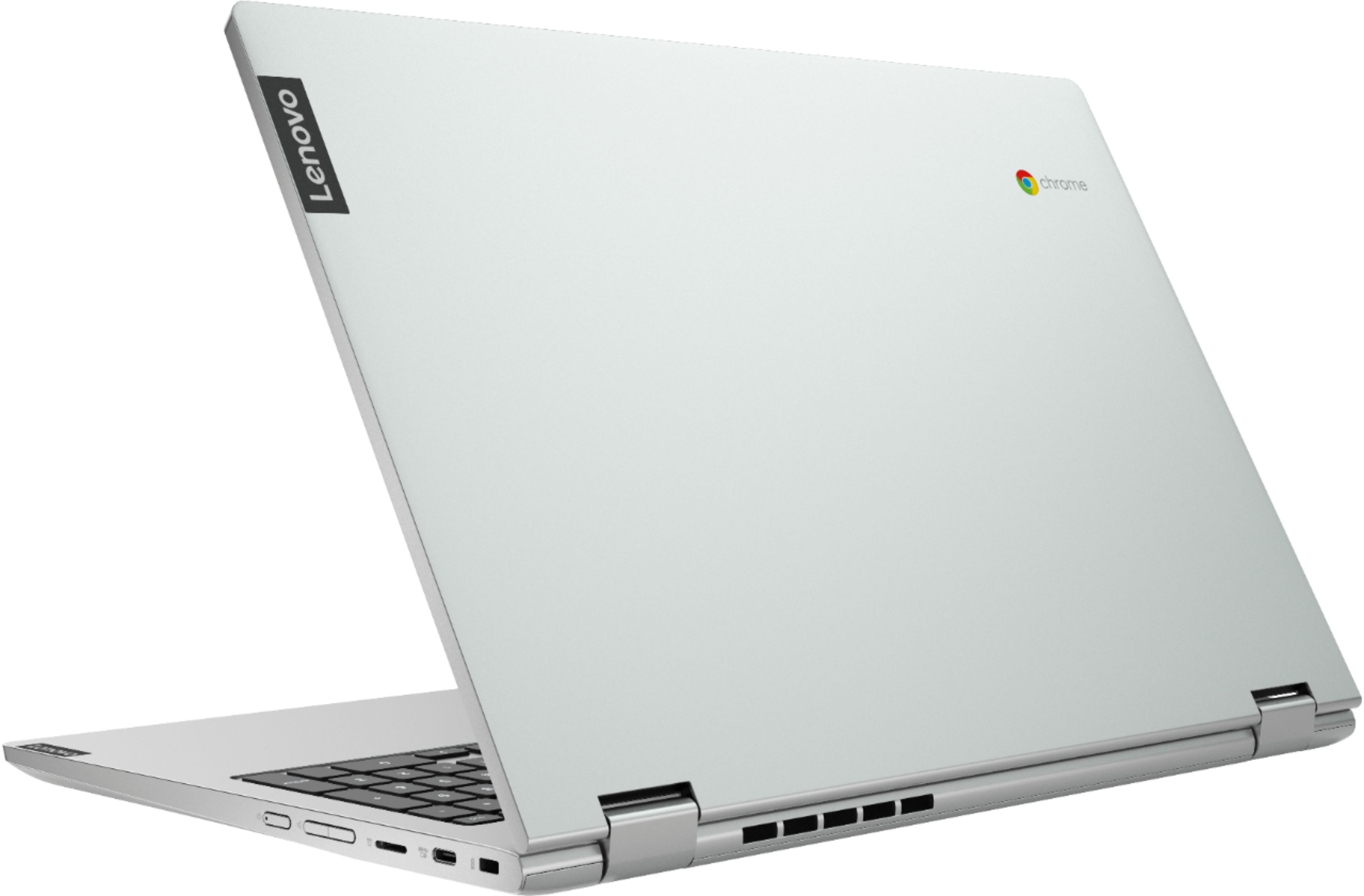 """Alt View Zoom 1. Lenovo - C340-15 2-in-1 15.6"""" Touch-Screen Chromebook - Intel Pentium Gold - 4GB Memory - 64GB eMMC Flash Memory - Mineral Gray."""