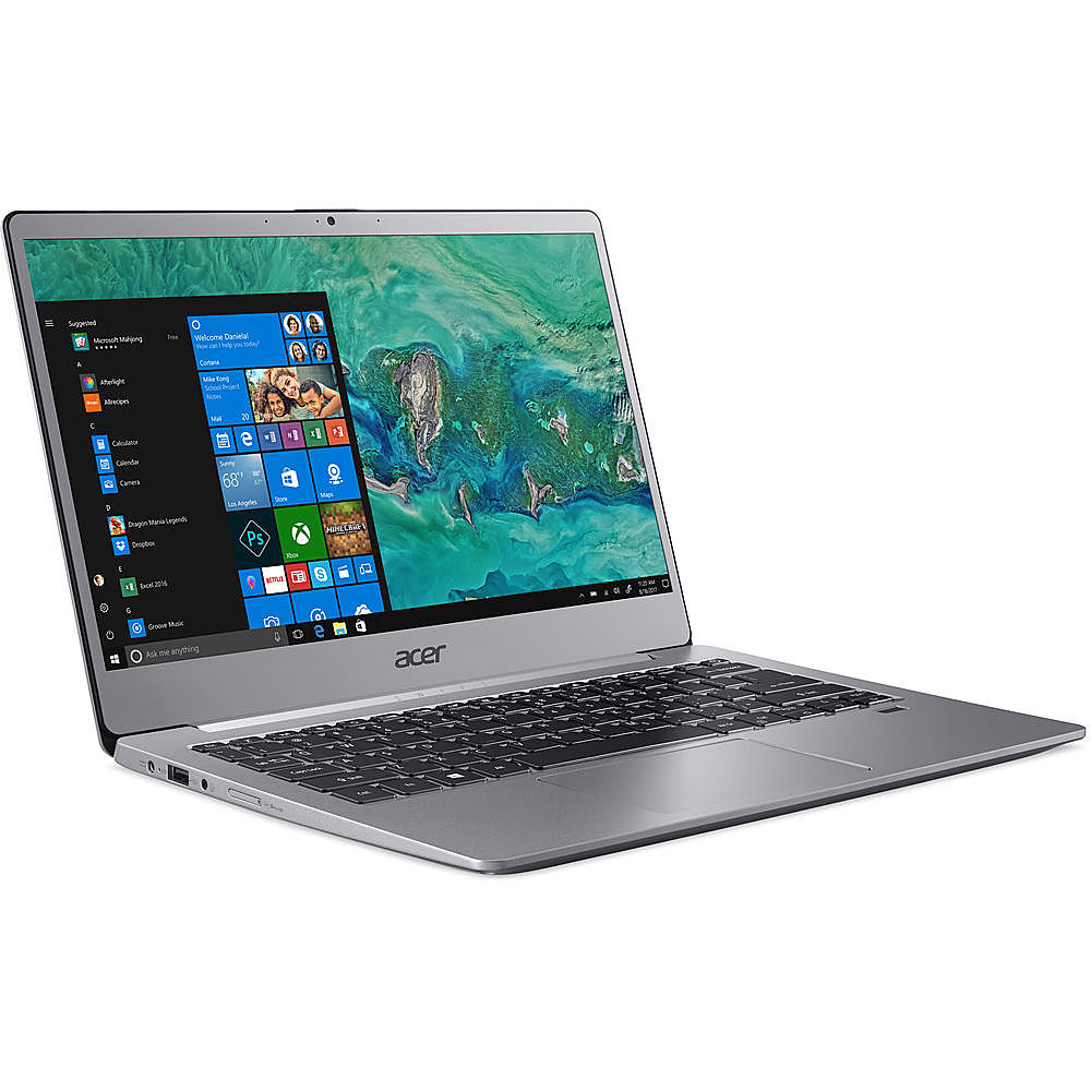 "Angle Zoom. Acer - Swift 3 14"" Refurbished Laptop - AMD Ryzen 7 4700U - 8GB Memory 512GB Solid State Drive - Silver."