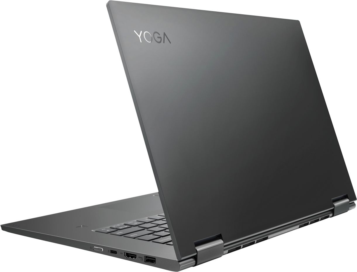 """Alt View Zoom 1. Lenovo - Geek Squad Certified Refurbished Yoga 730 2-in-1 15.6"""" Touch-Screen Laptop - Intel Core i7 - 8GB Memory - 256GB SSD - Iron Gray."""