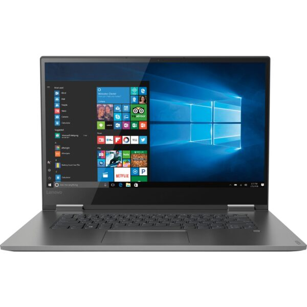"""Lenovo - Geek Squad Certified Refurbished Yoga 730 2-in-1 15.6"""" Touch-Screen Laptop - Intel Core i7 - 8GB Memory - 256GB SSD - Iron Gray"""