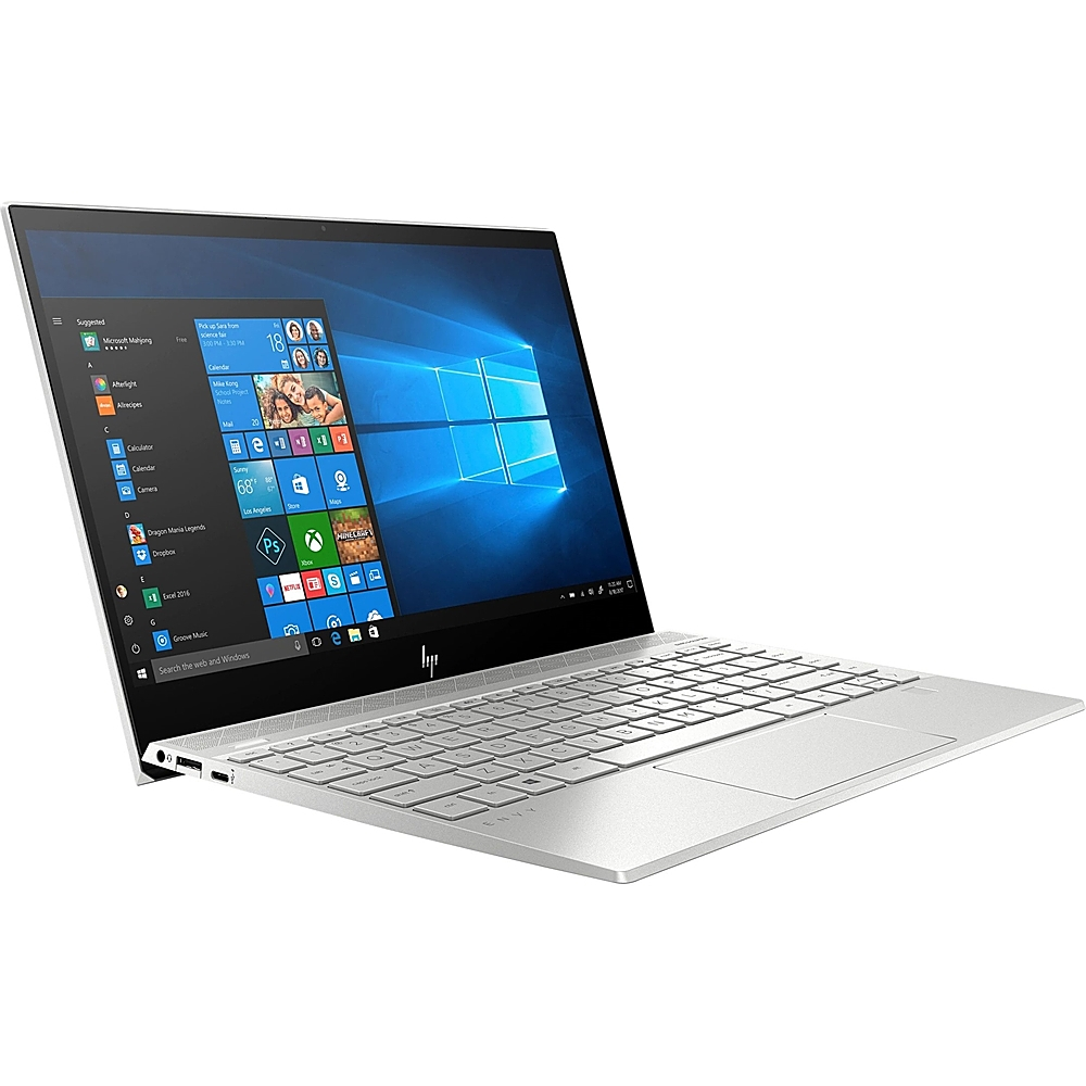 """Left Zoom. HP - Envy 13.3"""" Touch-Screen Laptop - Intel Core i7 - 8GB Memory - 512GB SSD - Natural Silver, Sandblasted Anodized Finish."""